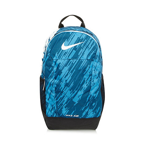 Nike - Blue graphic pattern backpack