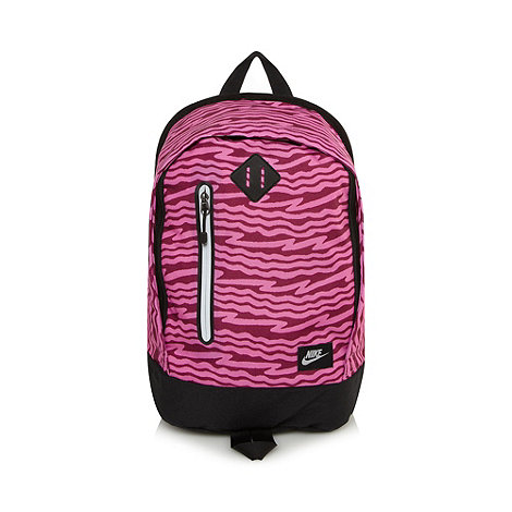 Nike - Pink scribble striped canvas backpack