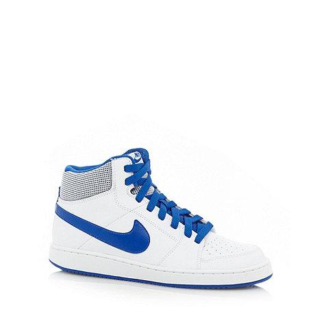 Nike - White +Backboard Mid 2+ trainers