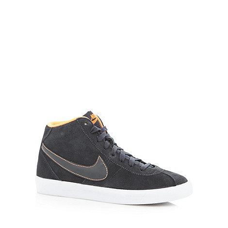 Nike - Dark grey +Brunin Mid+ suede trainers