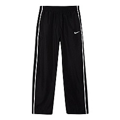 Nike - Boy's black woven jogging bottoms