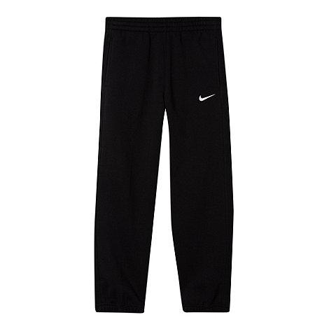 Nike - Boy+s black cuffed jogging bottoms