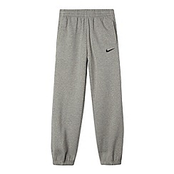 Nike - Boy's grey cuffed jogging bottoms