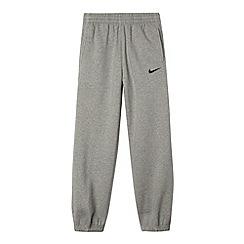 Nike - Boy's grey cuffed jogging bottoms