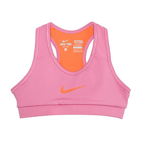 Nike - Pink mesh racer back sports bra