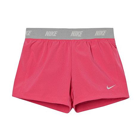 Nike - Girl+s pink woven short