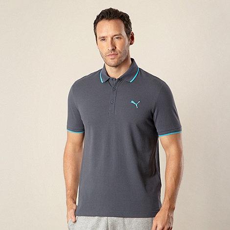 Puma - Dark blue pique polo shirt