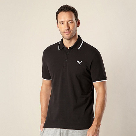 Puma - Black pique polo shirt