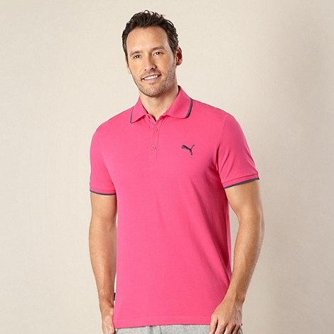 Puma - Pink pique polo shirt