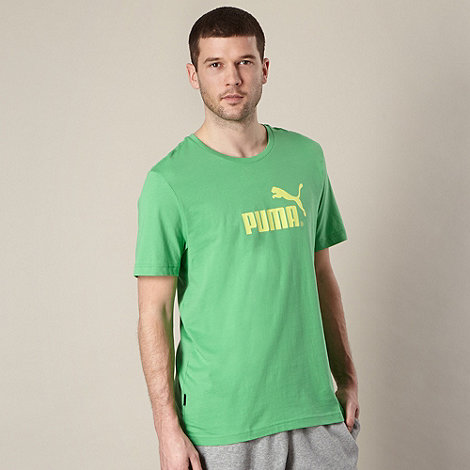 Puma - Green large logo t-shirt