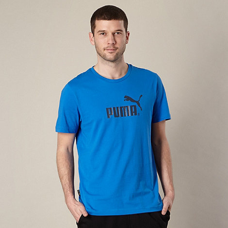 Puma - Blue large logo t-shirt