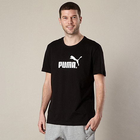 Puma - Black large logo t-shirt