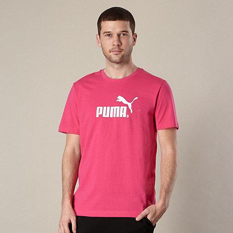 Puma - Pink large logo t-shirt
