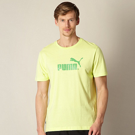 Puma - Yellow logo t-shirt