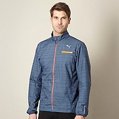 Puma - Navy reflective running jacket