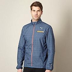 Puma - Navy reflective running jacket