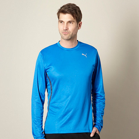 Puma - Blue long sleeve running t-shirt