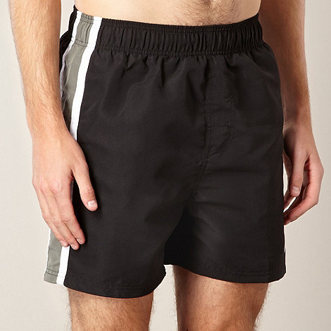 Zoggs - Black side panelled swim shorts