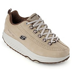 Skechers - Beige shape-ups optimized trainers