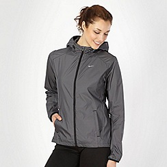 Nike - Black and grey woven running jacket