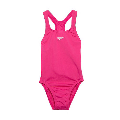Speedo - Girl+s pink +Endurance+ swimsuit