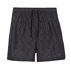 Speedo - Boy's black monogram swim shorts
