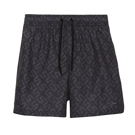Speedo - Boy+s black monogram swim shorts