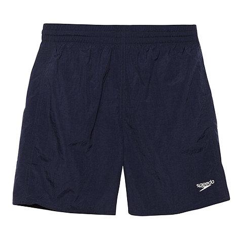 Speedo - Boy+s navy plain swim shorts
