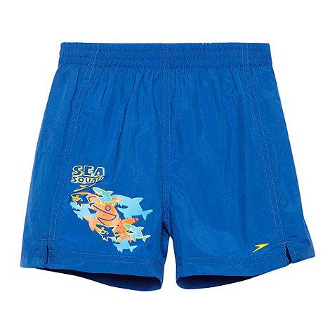 Speedo - Boy+s blue +Sea Squad+ printed swim shorts