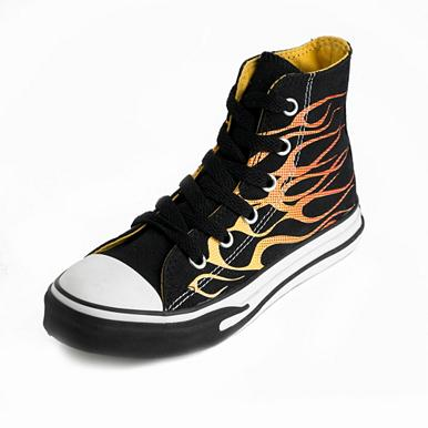 Converse Black flame high top girl's trainers