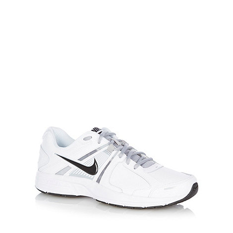 Nike - White leather darted trainers