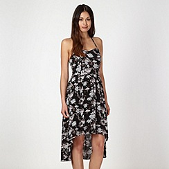 O'Neill - Black palm printed bandeau dress