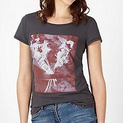 O'Neill - Grey ocean flower printed t-shirt