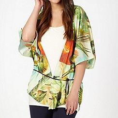 O'Neill - Green floral print kaftan shirt