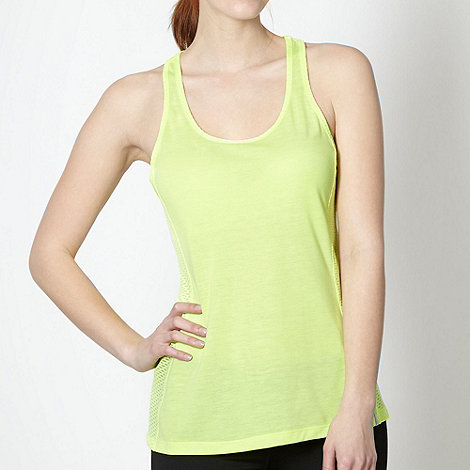 Under Armour - Neon yellow mesh panel tank top