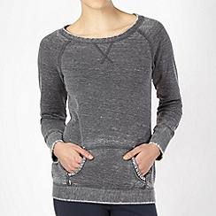 Reebok - Dark grey textured jumper