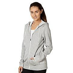 Reebok - Light grey zip through hoodie