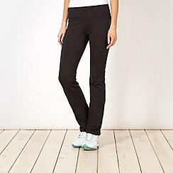 Reebok - Black skinny bootcut fitness trousers