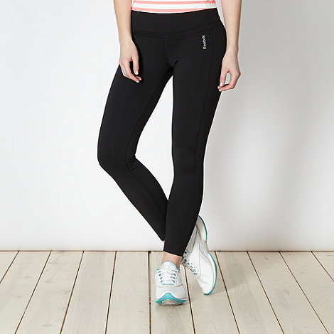 Reebok - Black skinny tight gym trousers