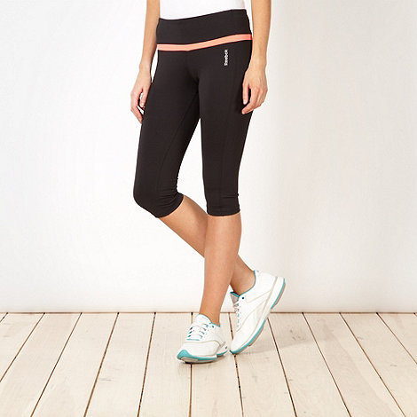 Reebok - Black skinny cropped capri pants