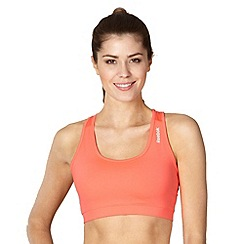 Reebok - Neon pink racer back fitness bra