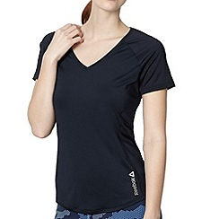 Reebok - Navy V neck gym t-shirt