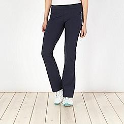 Reebok - Navy skinny bootcut jogging bottoms