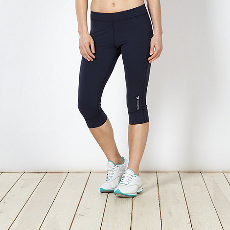 Reebok - Navy women+s training capri pants