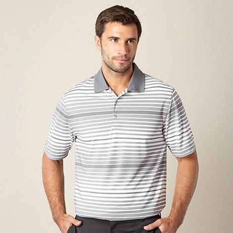 Nike - Grey bold striped performance golf polo shirt