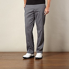 Nike - Dark grey flat front golf trousers