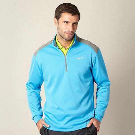 Nike - Blue half zip performance golf top