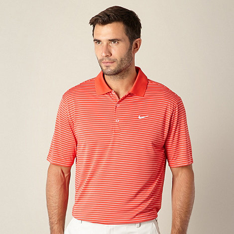 Nike - Red striped +Victory+ performance golf polo shirt