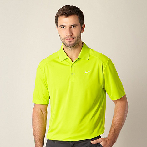 Nike - Lime +Victory+ performance golf polo shirt