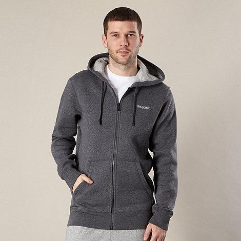 Reebok - Dark grey zip through hoodie